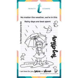 Rainy Days Together, Trinity Stamps Clear Stamps -