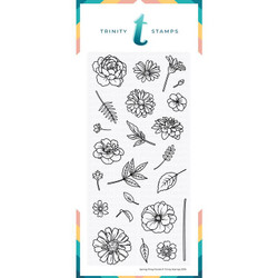 Spring Fling Florals, Trinity Stamps Clear Stamps -