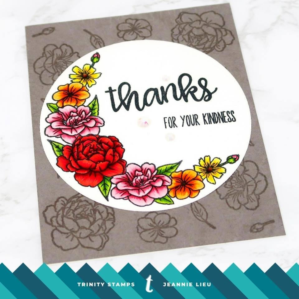 Thank You Sentimini, Trinity Stamps Clear Stamps -