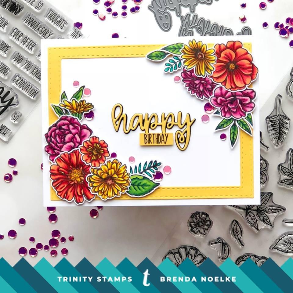 Happy Sentimini, Trinity Stamps Clear Stamps -