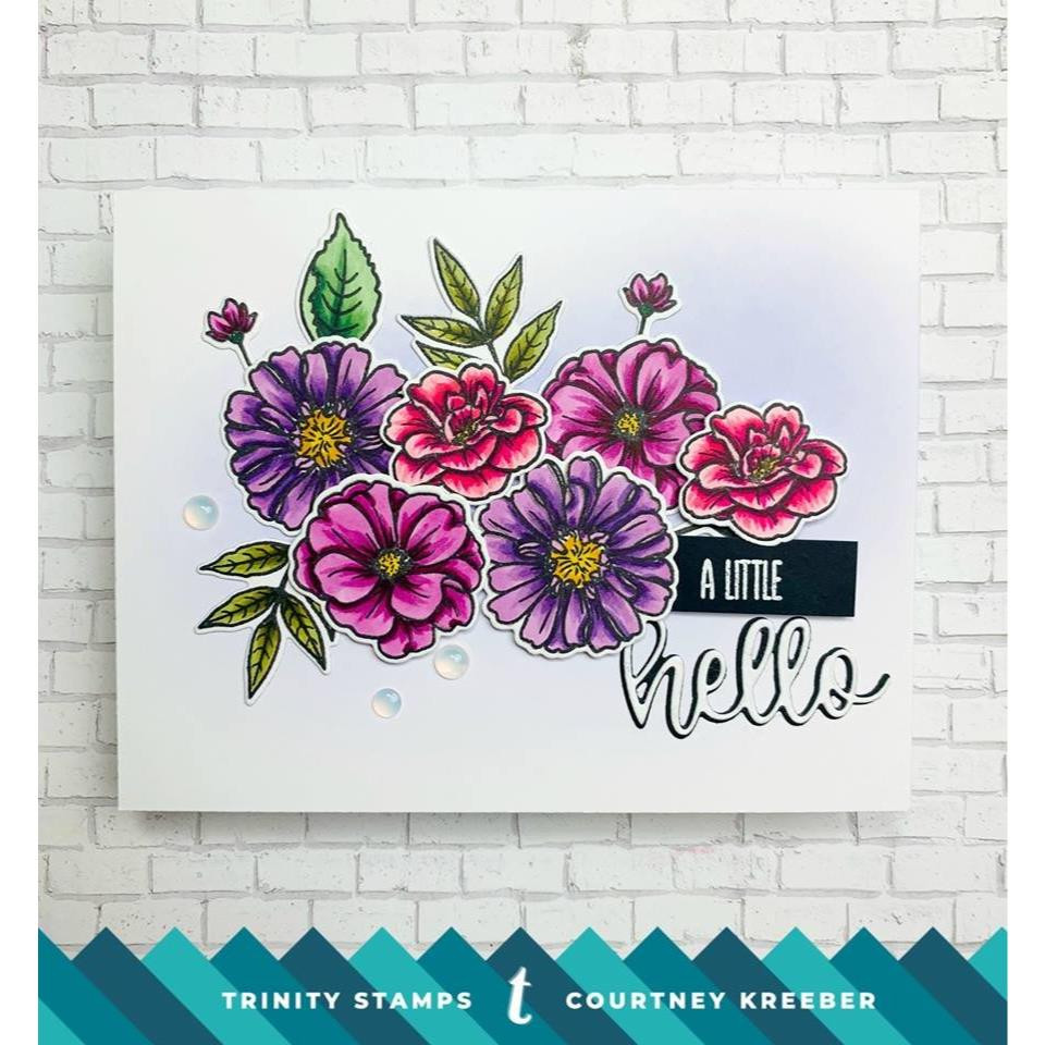 Hello Sentimini, Trinity Stamps Clear Stamps -