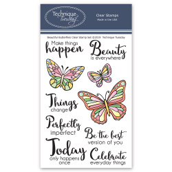 Beautiful Butterflies, Technique Tuesday Clear Stamps - 811784027806