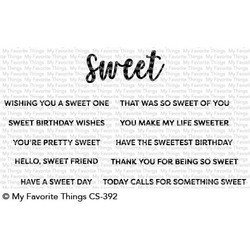 Sweet Sentiments, My Favorite Things Clear Stamps - 849923030868