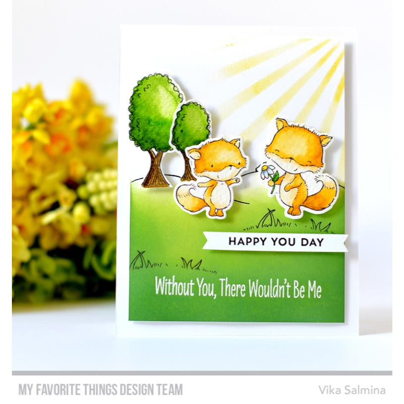 Greetings & Salutations, My Favorite Things Clear Stamps - 849923030851