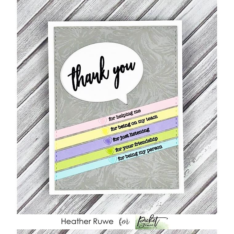 Small Ways to Say Thank You, Picket Fence Studios Clear Stamps - 745557994272