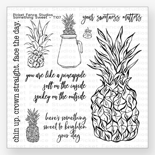 Something Sweet, Picket Fence Studios Clear Stamps - 745557992681