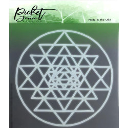 All About the Triangles, Picket Fence Studios Stencils - 745557997037
