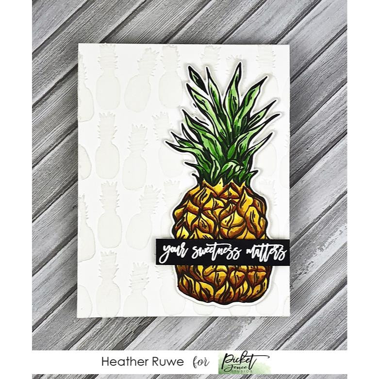 Pineapple Collage, Picket Fence Studios Stencils - 745557997075