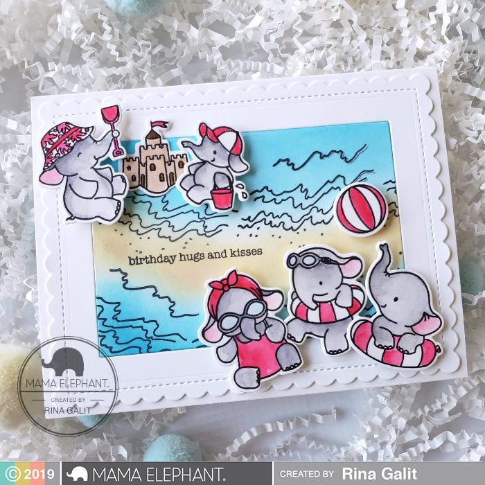 Framed Tags - Artist Mat, Mama Elephant Creative Cuts -