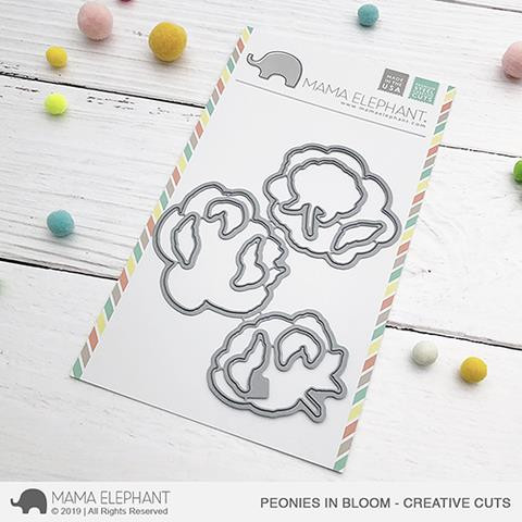 Peonies In Bloom, Mama Elephant Creative Cuts -