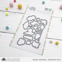 Beach Chickies, Mama Elephant Creative Cuts -