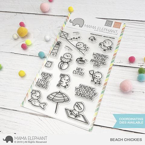 Beach Chickies, Mama Elephant Clear Stamps -