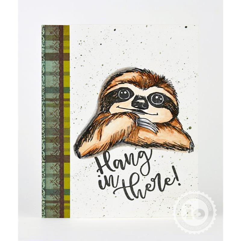 Hang In There, Impression Obsession Cling Stamps -