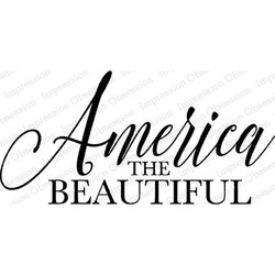 America, Impression Obsession Cling Stamps -