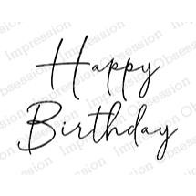 Happy Birthday, Impression Obsession Cling Stamps -