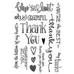 Thank You, Impression Obsession Clear Stamps -