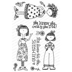She Knew, Impression Obsession Clear Stamps -