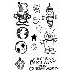 Outta This World, Impression Obsession Clear Stamps -
