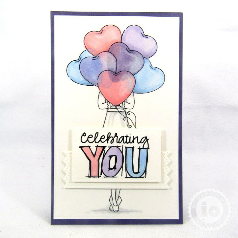 Celebration Girl, Impression Obsession Clear Stamps -