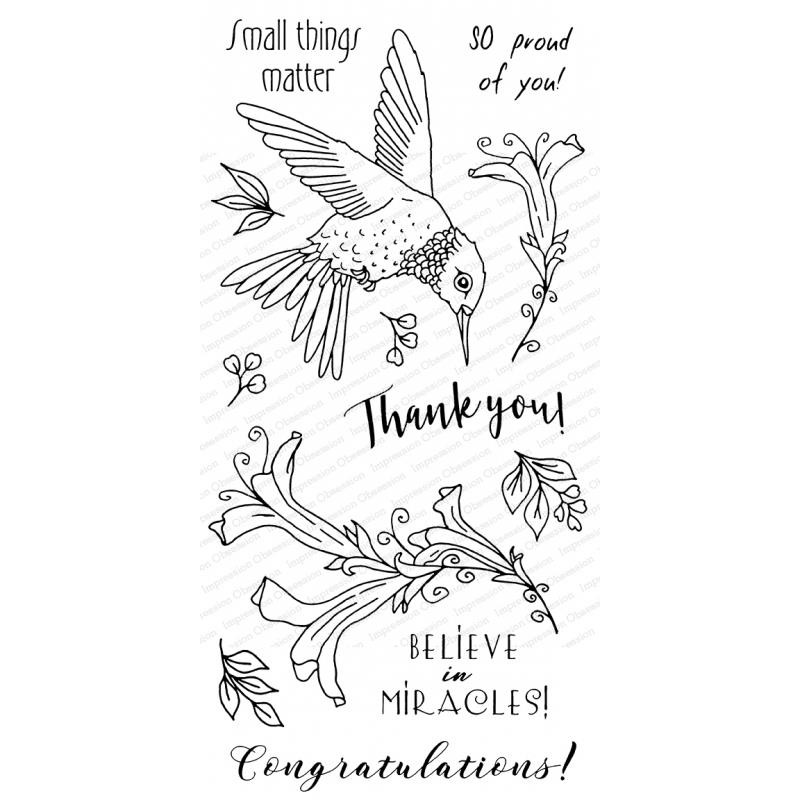 Hummingbird, Impression Obsession Clear Stamps -
