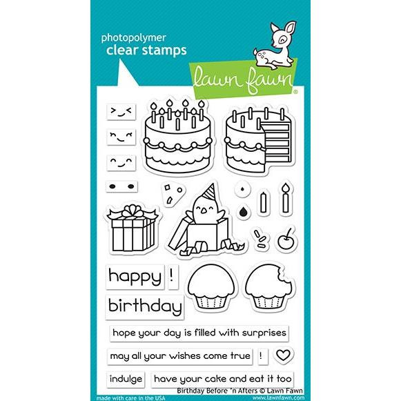 Birthday Before 'N Afters, Lawn Fawn Clear Stamps - 352926726732