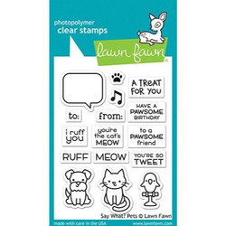 Say What? Pets, Lawn Fawn Clear Stamps - 352926727104