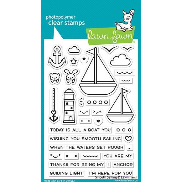 Smooth Sailing, Lawn Fawn Clear Stamps - 352926727418