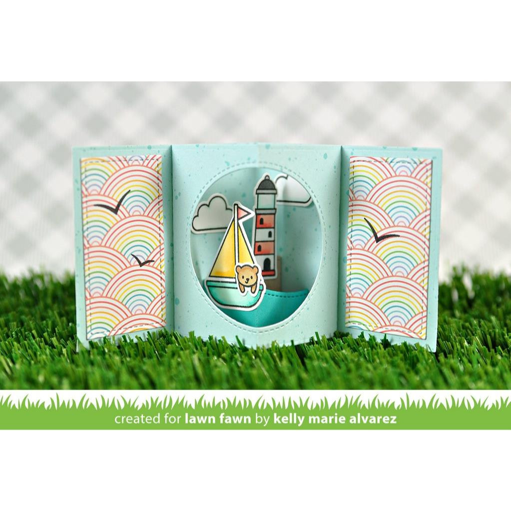 Center Picture Window Card, Lawn Cuts Dies - 352926728026