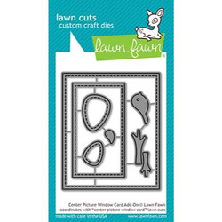 Center Picture Window Card Add-On, Lawn Cuts Dies - 352926728194