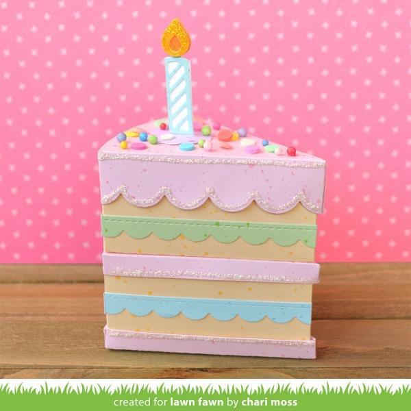 Cake Slice Box, Lawn Cuts Dies - 352926728262