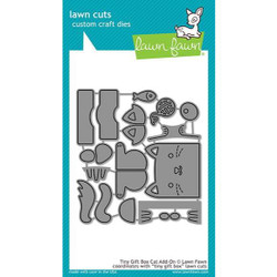 Tiny Gift Box Cat Add-On, Lawn Cuts Dies - 352926728576