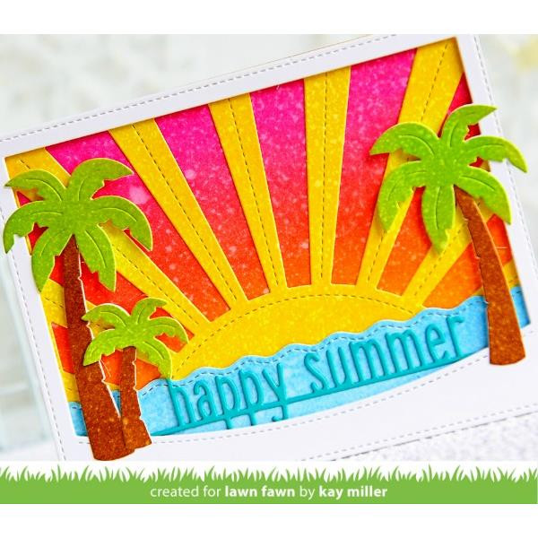 Happy Summer Line Border, Lawn Cuts Dies - 352926729252