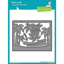 Tropical Backdrop, Lawn Cuts Dies - 352926729566