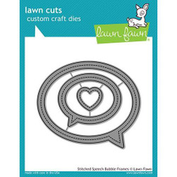 Stitched Speech Bubble Frames, Lawn Cuts Dies - 352926730074