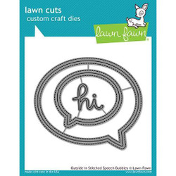 Outside In Stitched Speech Bubbles, Lawn Cuts Dies - 352926730142