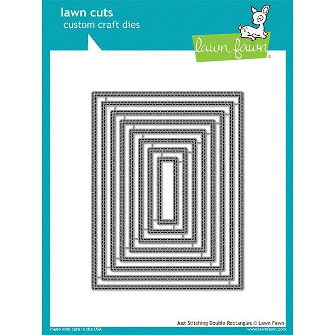 Just Stitching Double Rectangles, Lawn Cuts Dies - 352926730210