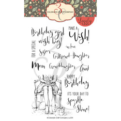 Happy Birthday, Colorado Craft Company Clear Stamps - 8.57287E+115