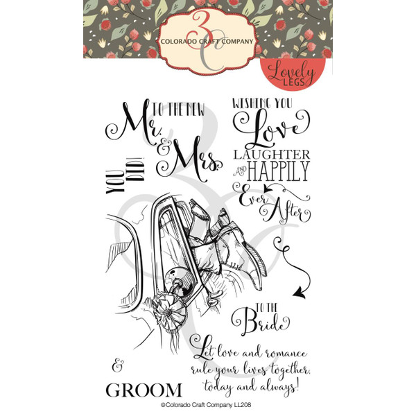 Mr. & Mrs., Colorado Craft Company Clear Stamps - 8.57287E+115