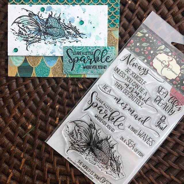 Be a Mermaid, Colorado Craft Company Clear Stamps - 8.57287E+115