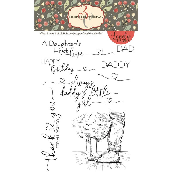 Daddy's Little Girl, Colorado Craft Company Clear Stamps - 8.57287E+115