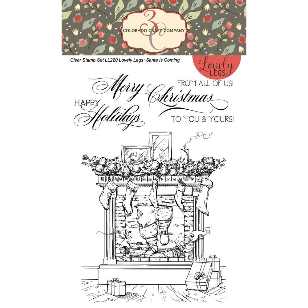Santa is Coming, Colorado Craft Company Clear Stamps - 8.57287E+115