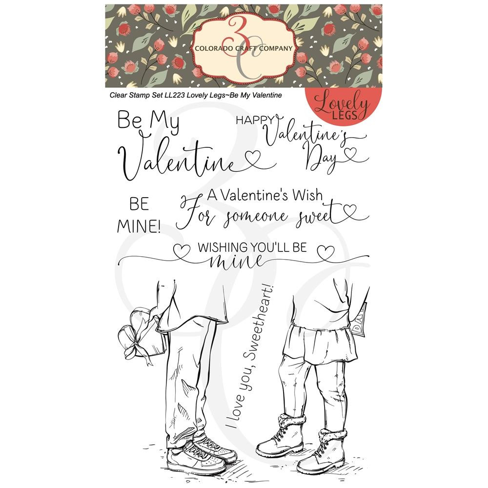 Be Mine!, Colorado Craft Company Clear Stamps - 8.57287E+115