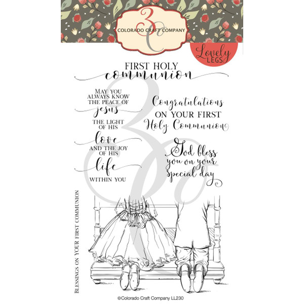 First Holy Communion, Colorado Craft Company Clear Stamps - 8.57287E+115