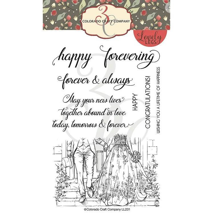 Happy Forevering, Colorado Craft Company Clear Stamps - 8.57287E+115