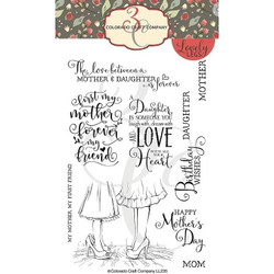 Mothers & Daughters, Colorado Craft Company Clear Stamps - 8.57287E+115