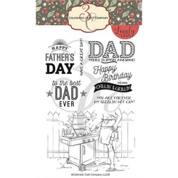 Chillin' & Grillin Dad, Colorado Craft Company Clear Stamps - 8.57287E+115