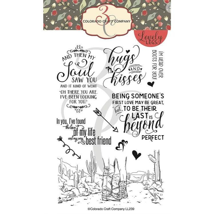 Head Over Boots, Colorado Craft Company Clear Stamps - 8.57287E+115