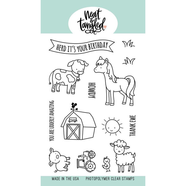 Barnyard Buddies, Neat & Tangled Clear Stamps - 817360023415