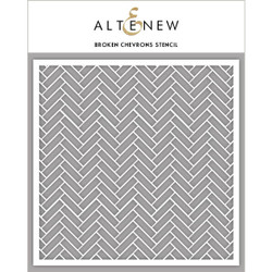 Broken Chevrons, Altenew Stencils - 704831301427