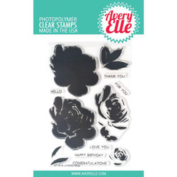 Layered Rose, Avery Elle Clear Stamps - 811568027541